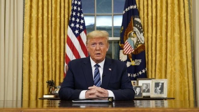 आप्रवासीमाथि अस्थायी प्रतिबन्ध लगाउने अमेरिकी राष्ट्रपति ट्रम्पको घोषणा
