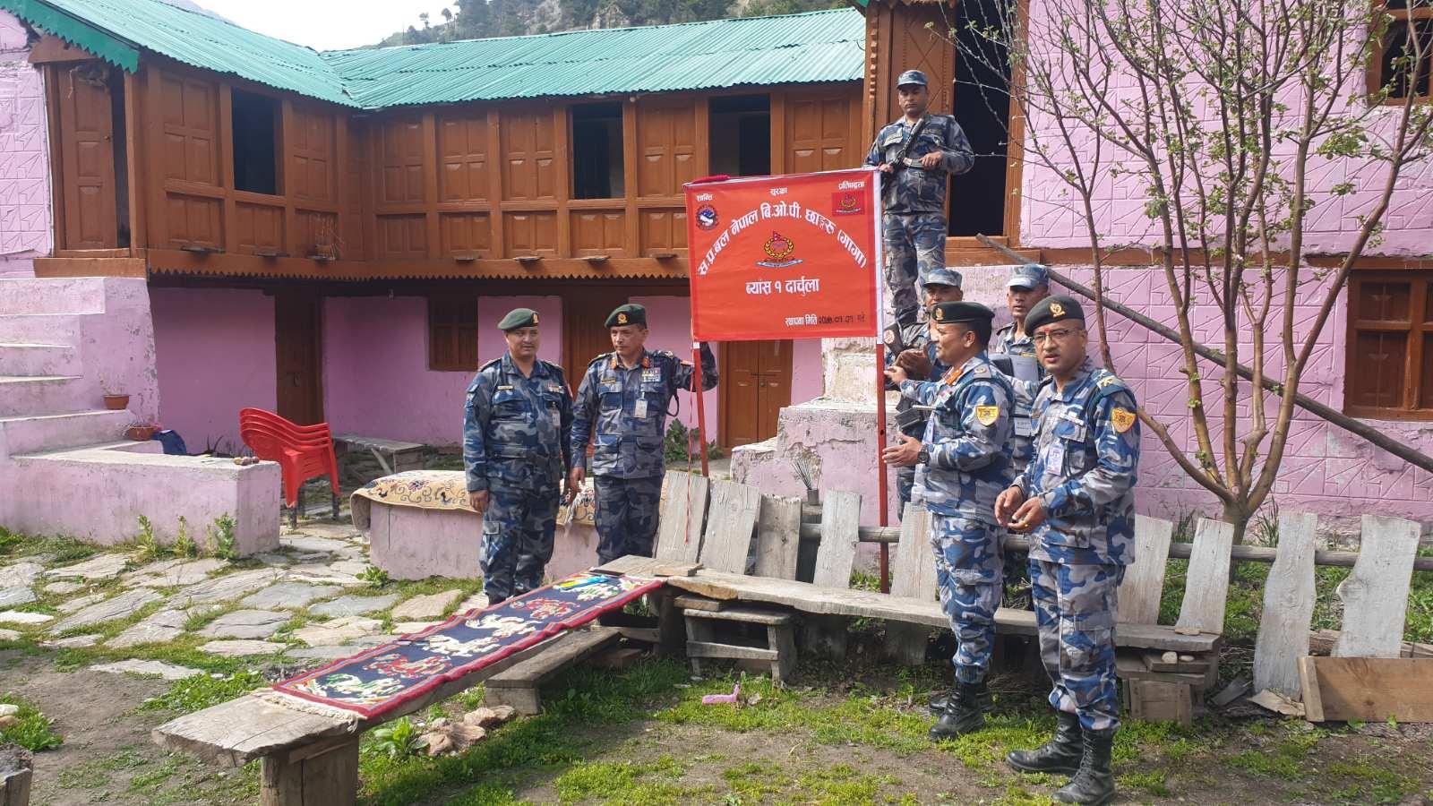 कालापानी क्षेत्रको सीमा सुरक्षाका लागि सशस्त्र प्रहरीको बीओपी स्थापना