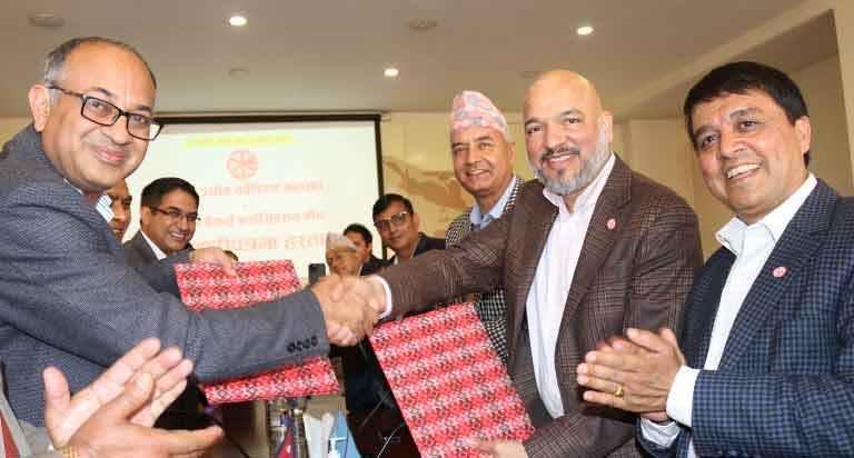 महासंघ र नेपाल बैकर्स संघ बीच ऋण सहजीकरणमा सहकार्य गर्न समझदारीपत्रमा हस्ताक्षर