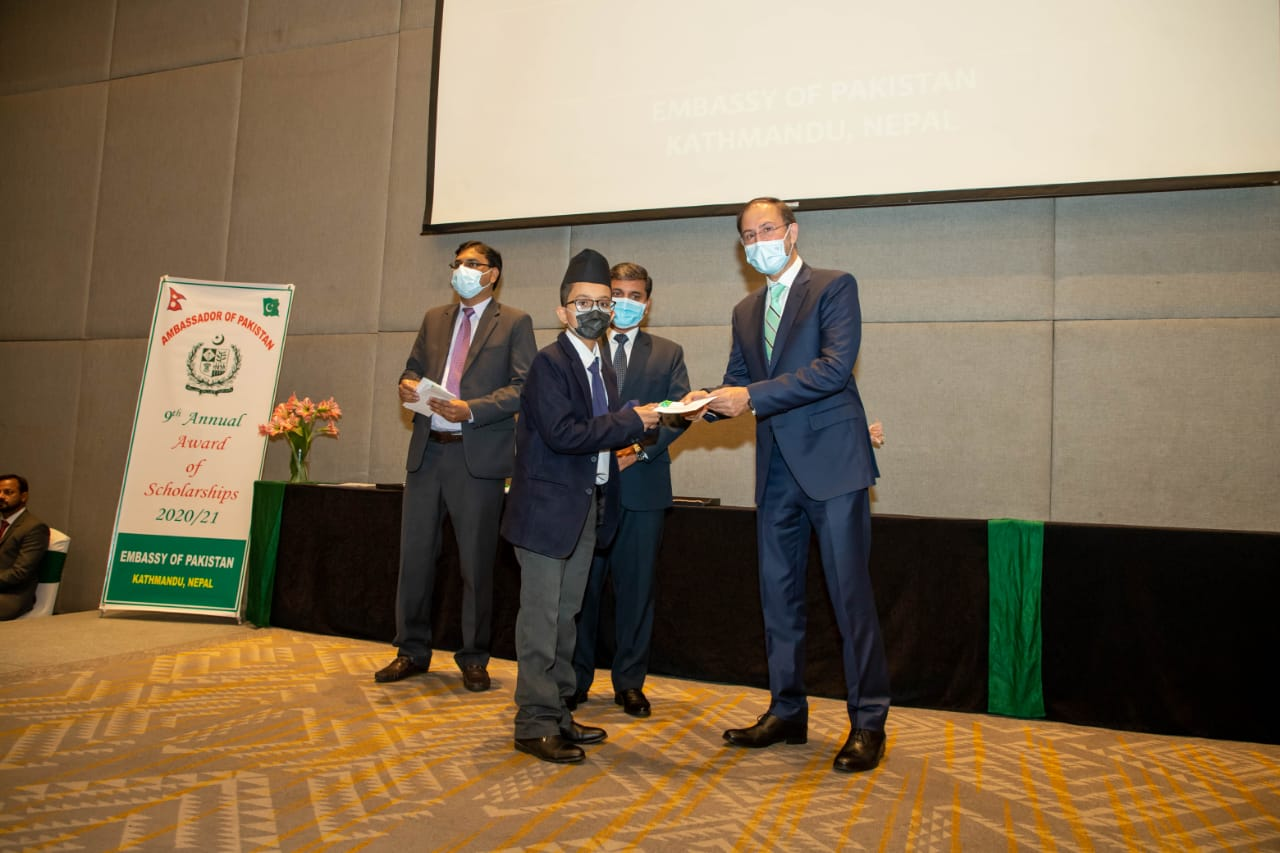 पकिस्तानी दूतावासद्वारा ५५० विद्यार्थीलाई छात्रवृत्ति प्रदान