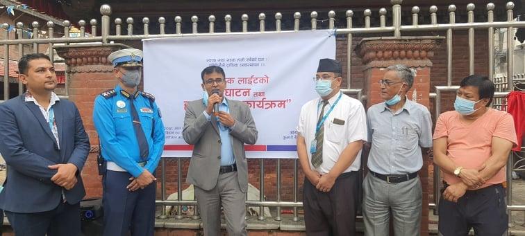 जय नेपाल र नक्साल भगवती चोकमा ट्राफिक लाइट जडान