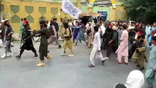 तालिबान लडाकुहरू समूह राजधानी काबुल प्रवेश
